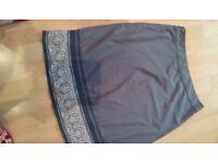 Ladies TU skirt, blue pattern