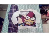Boys Bart Simpsons pyjamas - age 11/12