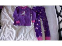 Girls Bundle age 4-6, Unicorn pyjamas,leggings,Easter Bunny Tops,Swimsuit NEW (H&M,Debenhams)