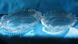 Victorian oval glass dishes
