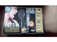 NT1-A Condenser Microphone & Pop Filter With Shock Absorber - Like New