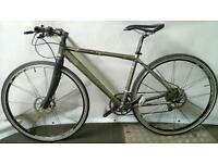 Mens Lightweight Chris Boardman Premium Road Hybrid Bike with Hydraulic Brakes