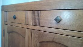 Solid Oak Sideboard. Excellent condition