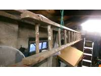 Wooden extension ladders (25 step)