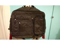 ZARA Black Zipped Laptop work bag (Men's Bag like Kippling) & HELLO KITTY Ladies Shoulder Bag brown
