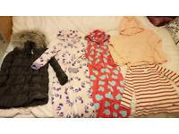 X17 Girls Clothes Bundle age 5-6 Years:Dresses,Tunics,Coat,Onesie,Skirt (MONSOON,NEXT,ZARA)