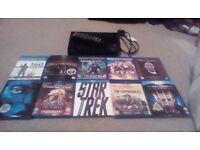 Samsung 3D Blu Ray player And 10 Blu Rays