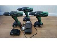 Hitachi Cordless power drills 18v