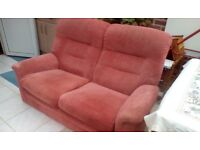 2 Parker Knoll two seater sofas.