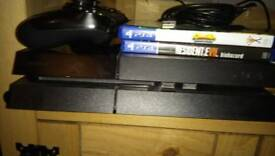 Ps4 and 2 games one controller