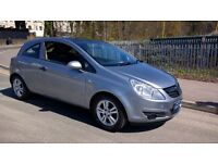 VAUXHALL CORSA 1.2 BREEZE 2008/58 REG WITH ELECTRIC TILT AND SLIDE BLACK GLASS SUNROOF.