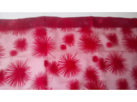 IKEA Red Voile Curtain for Curtain Poles, Width140cm, Height:290cm