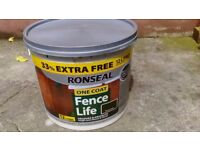 Ronseal 12L wood, fence life paint Forest Green