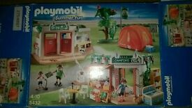 Playmobil summer fun campsite with box
