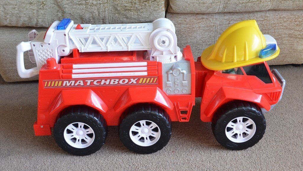 Large Fire Engine Push Along Truck Car Toy With Lights & Sounds