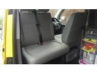 VW T5 folding double front passenger seats in L shape Inca or gp place patterns.