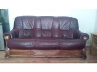 DFS leather sofa 3, 2, 1, great condition
