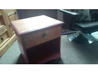 Up cycled pink bedside table very pretty.