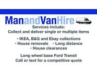 CHEAP VAN AND MAN, REMOVALS, VAN HIRE, SAME DAY DELIVERY