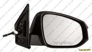 Door Mirror Power Passenger Side Textured Toyota Rav4 2013-2015