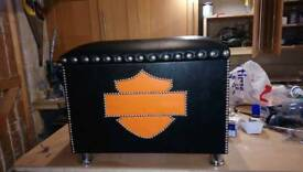 Harley footstool / storage box