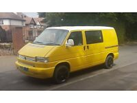 vw t4 campervan 2001 2.5 tdi 4 seater rock and roll bed with seat belts, 240v hook up and awning