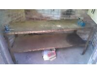 Solid Metal Work Bench