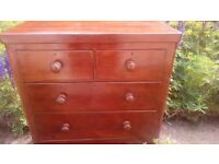Victoria mahogany chest of drawers