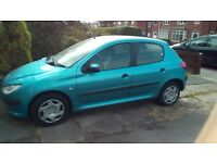 Peugeot 206 1.4LX 82000miles Cheap insurance group. Really well looked after.