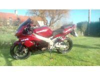 Kawasaki ZX9R C2 1999 red