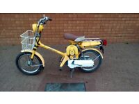 Honda express nc 50 for sale the wee bike is in good shape for the years good tyres breaks .......
