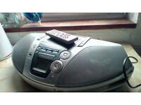 Electric liquidiser, CD/radio/tape player