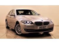 BMW 5 SERIES 2.0 520D SE 4d 181 BHP + 2 PREV OWNERS + SERVICE H (silver) 2011