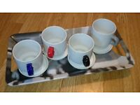 SEBASTIAN CONRAN DESIGN STACKING CUPS MUGS UNIVERSAL EXPERT KITCHENWARE COFFEE TEA