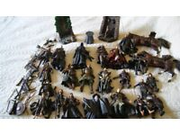 Large set of Lord of the Rings action figures