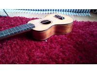 Mele hand crafted ukulele made in Hawaii. Highly regarded brand of ukulele with new soft case.