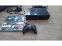 Xbox one 500GB 4 games