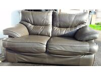 Brown leather sofa - 1650(L) x 900(H) x 1000(D)