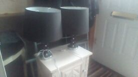 😁😁😁😁 Two Large Lamps with Two sets of Shades 😁😁😁😁