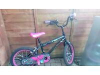 Girls Tinkerbell bike
