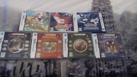 Giant bundle of Pokemon and Professor Layton DS games