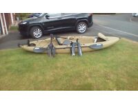 Hobie Outback Kayak with mirage pedal drive. £2,000. Green in colour. Rarely used Good condition