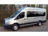 12 SEATER to 16 SEATER MINIBUS & LUXURY MINICOACH HIRE WITH DRIVER - NO SELF DRIVE