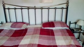 Super king size headboard and two matching bedside tables
