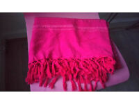 Pink BED THROW 100% cotton from Ikea, Ideal for a sofa / couch / bed / divan, good condition