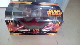 STAR WARS BATTLE ARENA SIDIOUS Vs MACE NEW