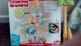 Fisher price 2-in-1 wind up musical mobile
