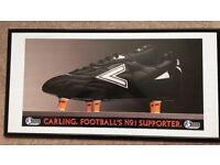 Carling framed print of their Premier League sponsorship