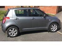Metallic grey Suzuki Swift, 2 lady owners from new, 12 months MOT