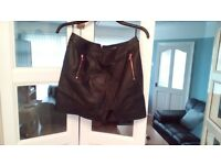 Dorothy perkins black leather size 12